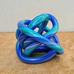 Endless Knot Turquoise Blue Stripe