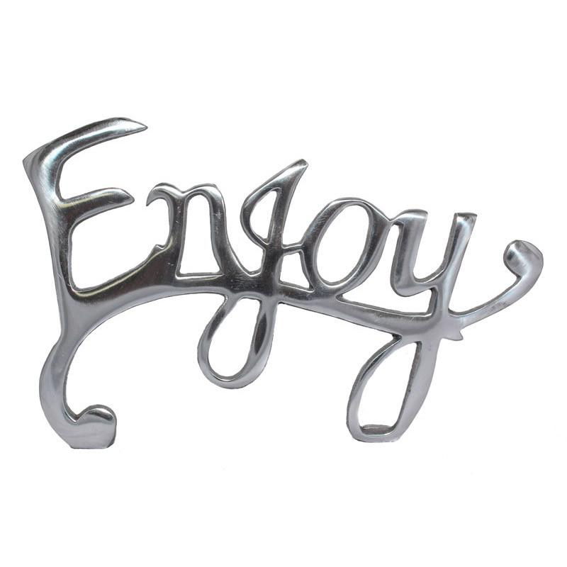 Enjoy Word Plaque - The Chic Nest