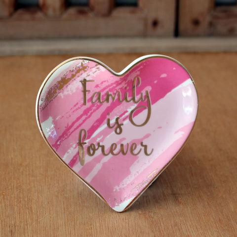 Family is Forever Trinket Dish - The Chic Nest