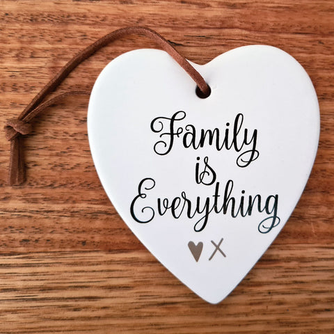 Family Is Everything Hanging Heart Ornament