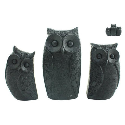 Family of Owls - Black - The Chic Nest