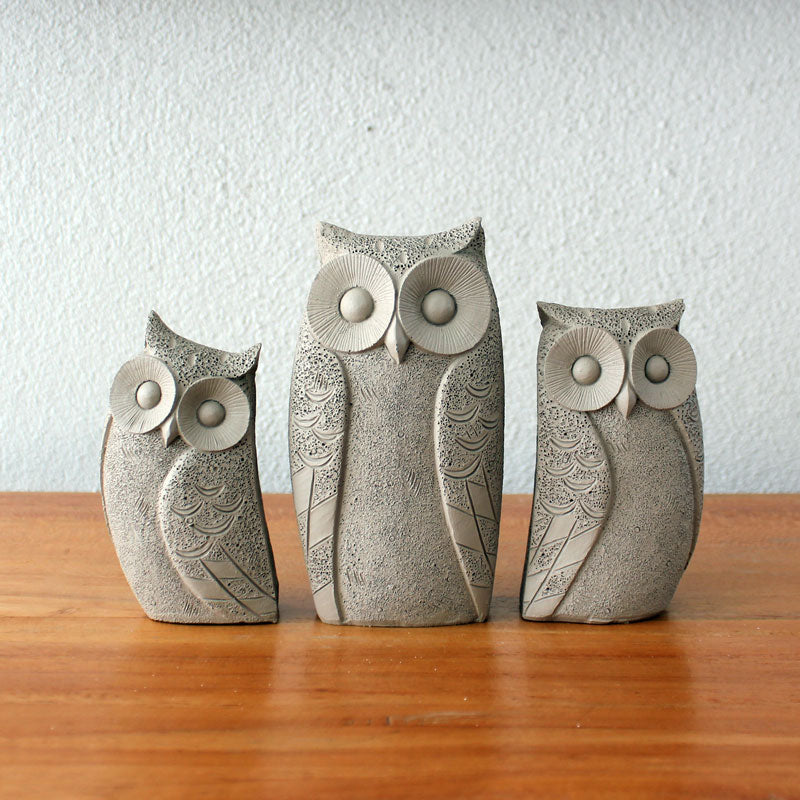 Family of Owls - Taupe