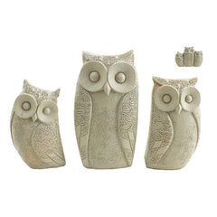Family of Owls - Taupe - The Chic Nest