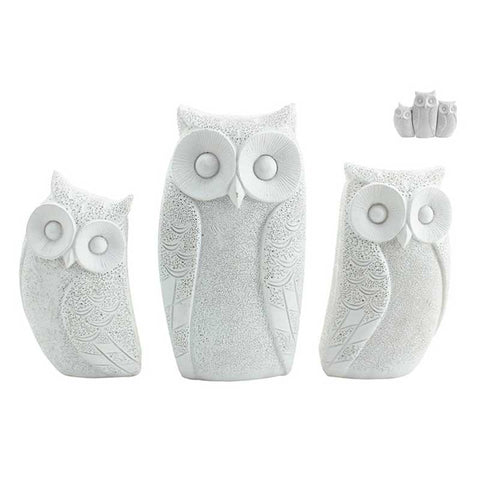 Owl home decor the chic nest family of owls white the chic nest negle Choice Image