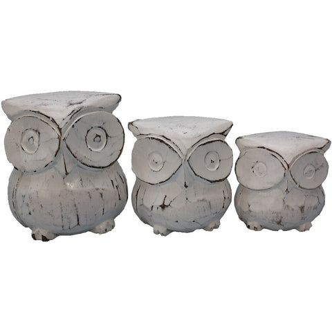 Family of Owls - White