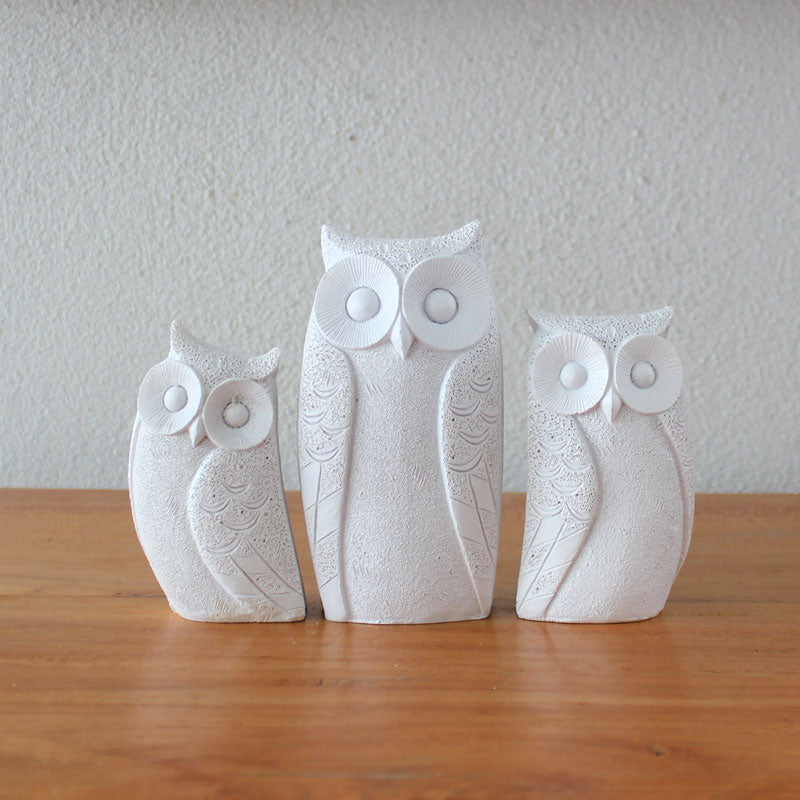 Family of Owls - White - The Chic Nest