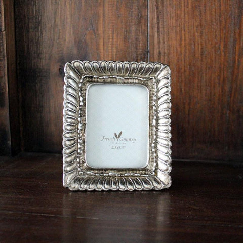 Fanned Rectangle Frame Pewter Finish - Small - The Chic Nest