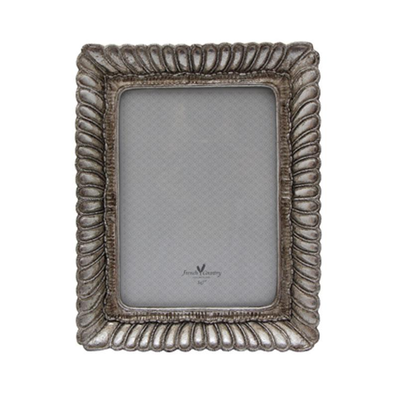 Fanned Rectangle Frame Pewter Finish - Large - The Chic Nest