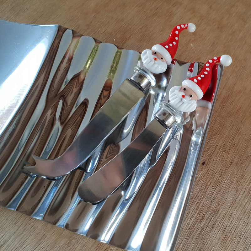 Father Christmas Cheese Knife - Gift Boxed - The Chic Nest