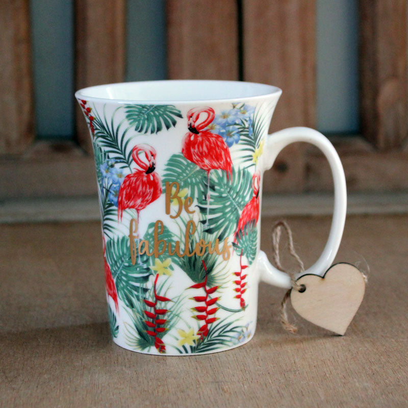 Flamingo Be Fabulous Gift Boxed Mug - The Chic Nest