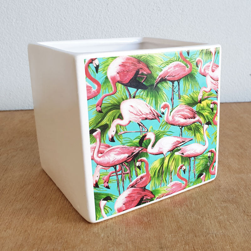 Flamingo Ceramic Planter Pot - The Chic Nest