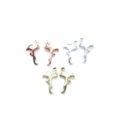 Flamingo Stud Earrings - Gold - The Chic Nest