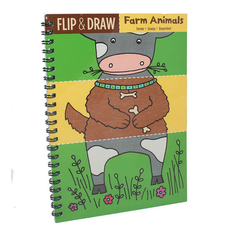 Flip & Draw Farm Animals Book - The Chic Nest