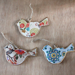Floral Bird Ornament - The Chic Nest