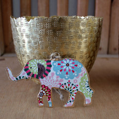 Floral Elephant Ornament - The Chic Nest