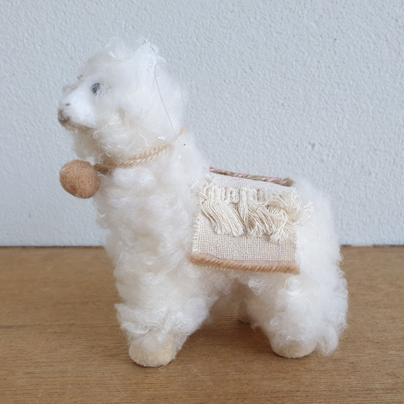 Fluffy Christmas Llama Hanging Ornament - White - The Chic Nest