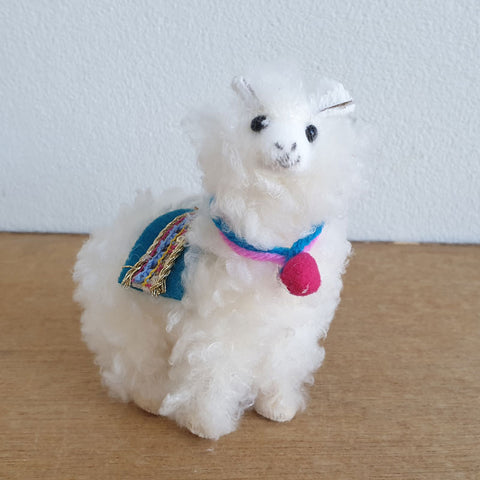 Fluffy Christmas Llama Hanging Ornament - Blue Saddle - The Chic Nest