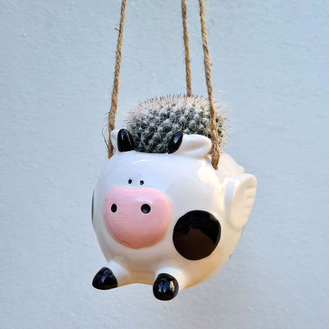 Flying Cow Hanging Planter