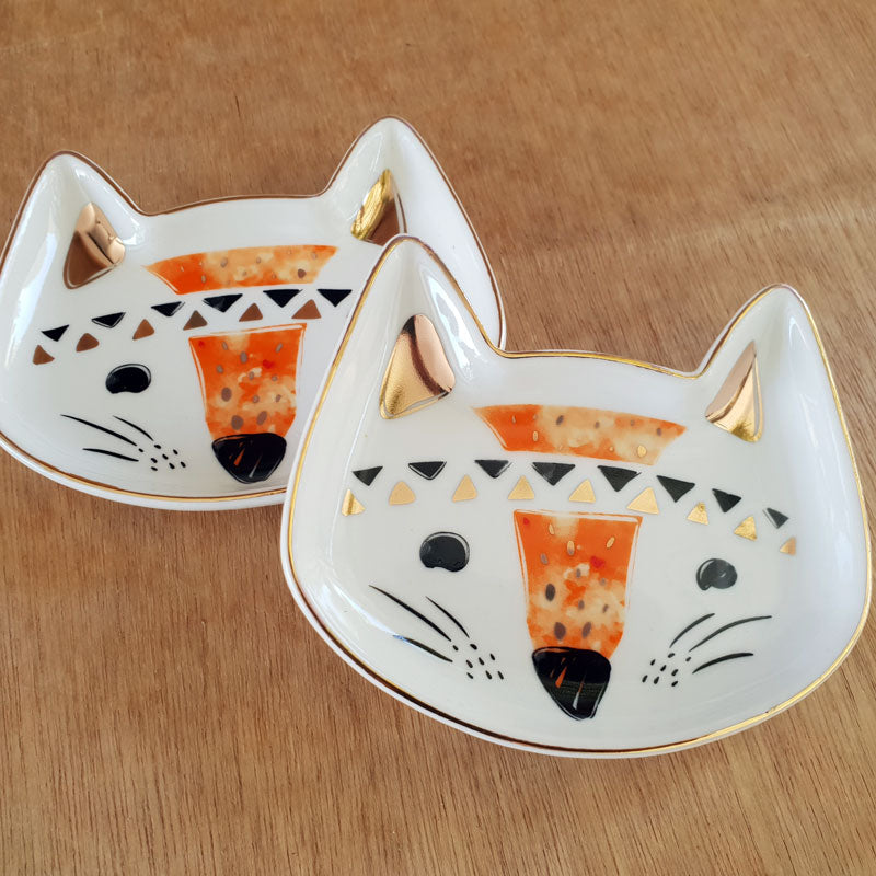Fox Face Ceramic Trinket Dish - The Chic Nest