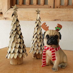 Frankie Pug Christmas Figurine - Large - The Chic Nest