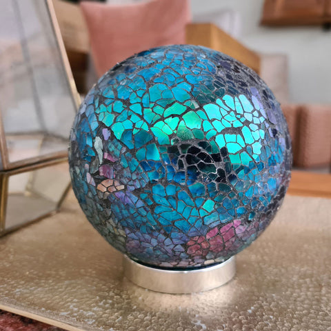 Mother Friendship Ball Aqua Mosaic Sparkle