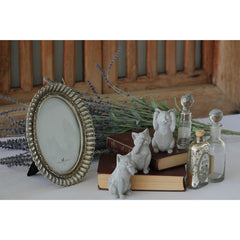 Fanned Oval Frame Pewter Finish - Large
