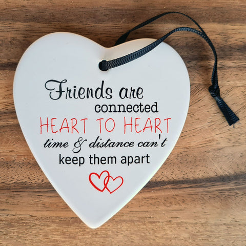 Friends Are Connected Hanging Heart Ornament