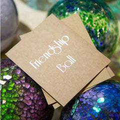 Friendship Ball Dark Green Swirls - The Chic Nest