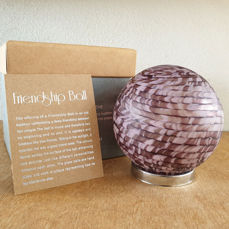 Friendship Ball Light Purple Swirls - The Chic Nest