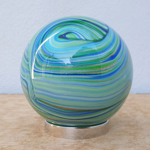 Mother Friendship Ball Blue Green Swirls