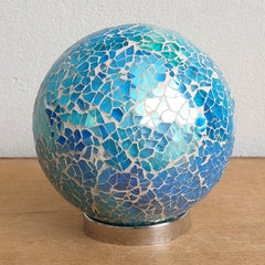 Mother Friendship Ball Light Blue Sparkle - The Chic Nest