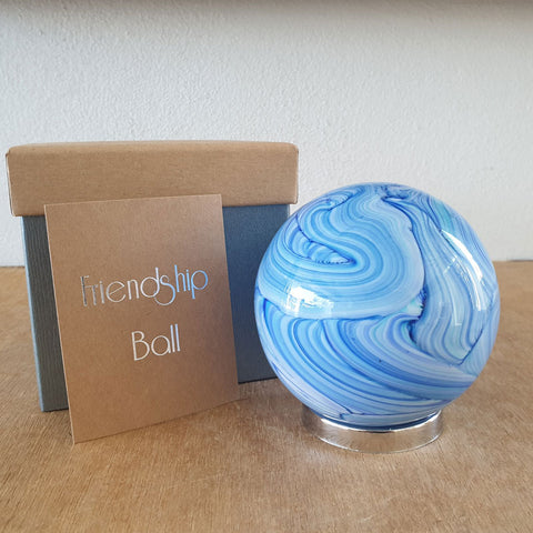 Friendship Ball Blue Swirls - The Chic Nest