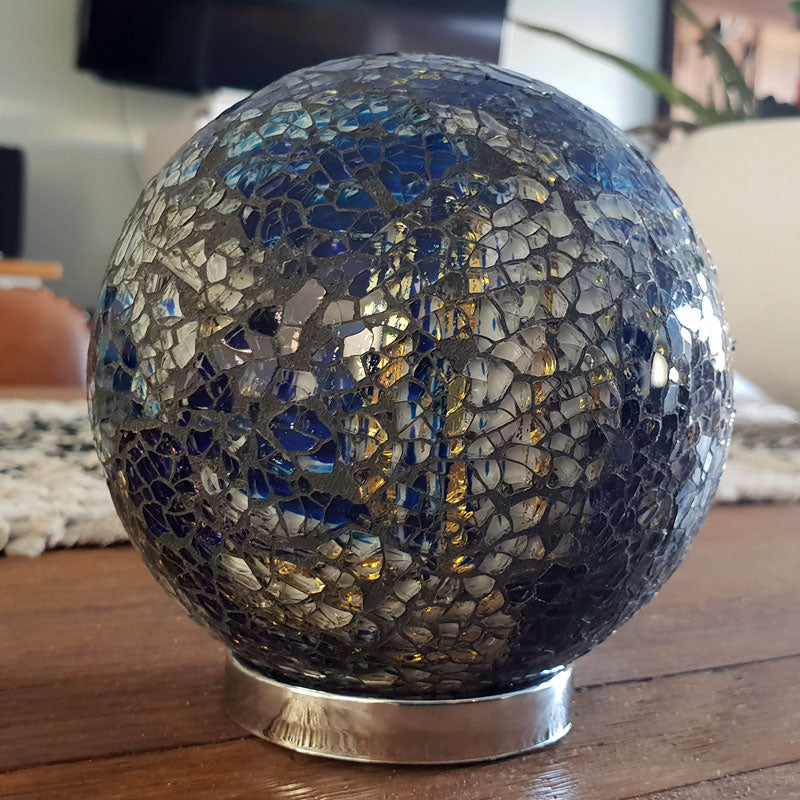 Friendship Ball Blue & Gold Mosaic - The Chic Nest