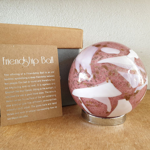 Friendship Ball Blush Pink and Gold