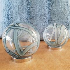 Friendship Ball Clear Blue Swirls - The Chic Nest