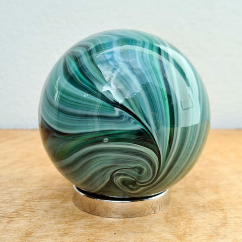 Sister Friendship Ball Dark Green Swirls