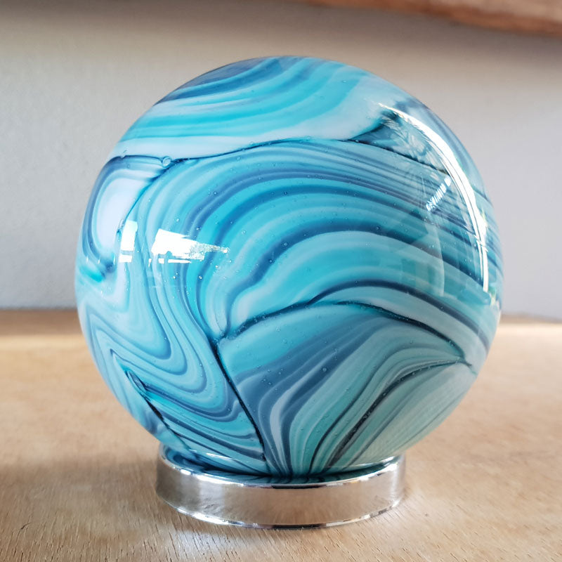 Mother Friendship Ball Marine Blue Swirls