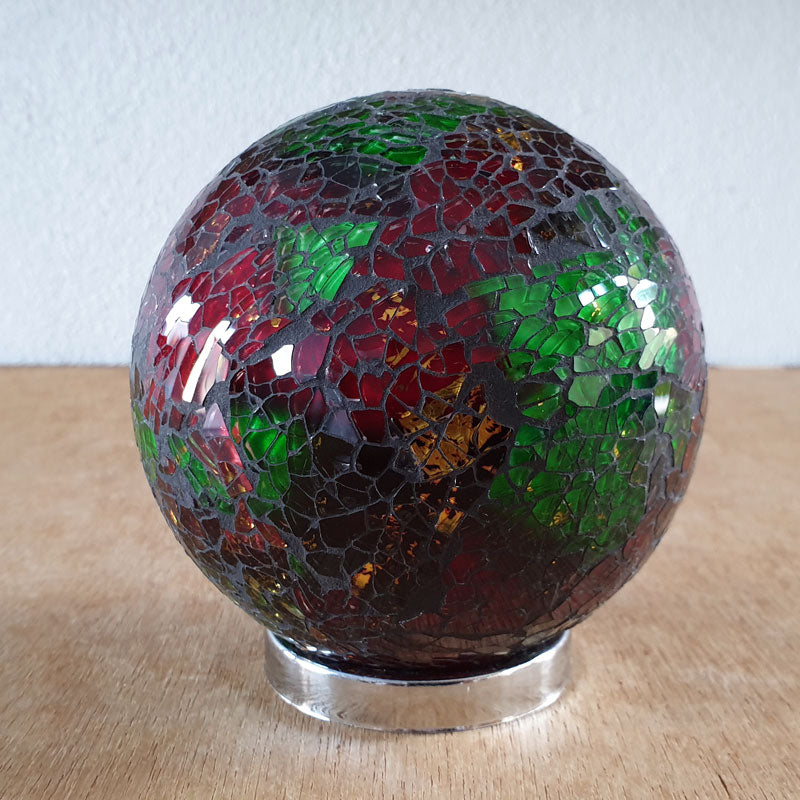 Friendship Ball Red & Green Mosaic