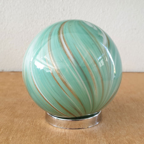 Friendship Ball Sage Green Swirls