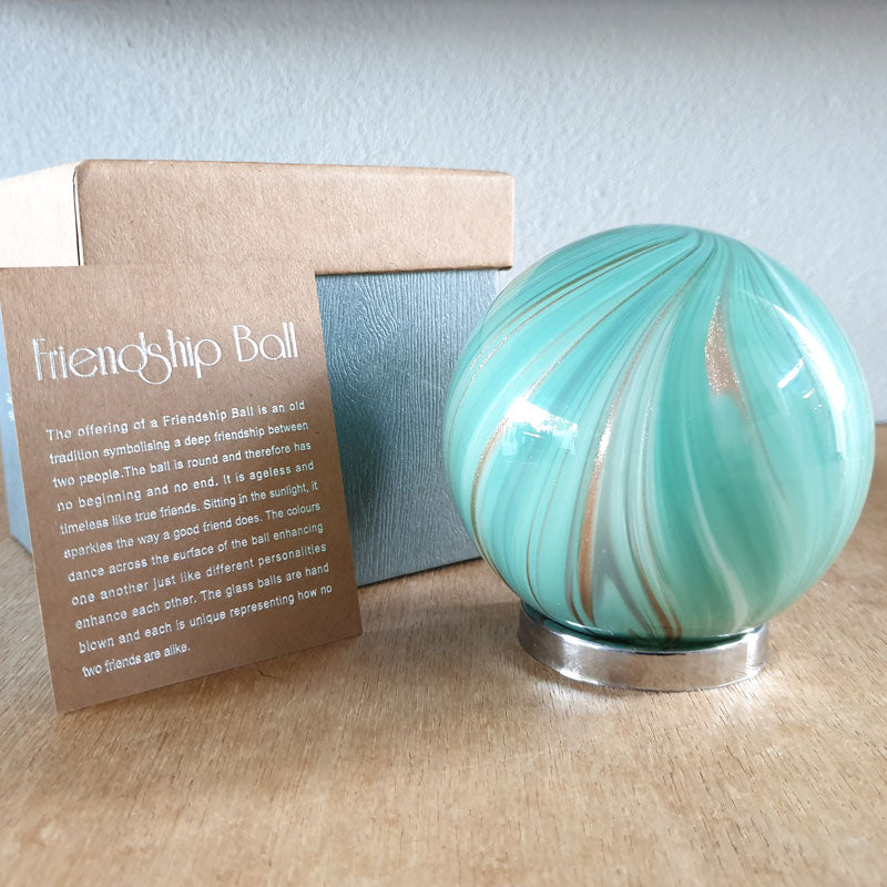 Friendship Ball Sage Green Swirls - The Chic Nest