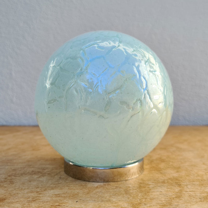 Sister Friendship Ball Soft Blue Crackle