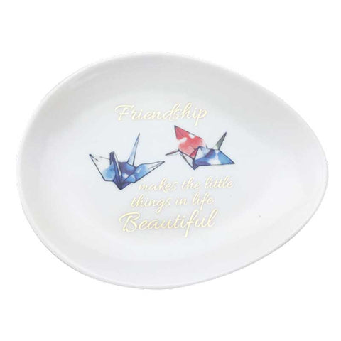 Friendship Cranes Trinket Dish