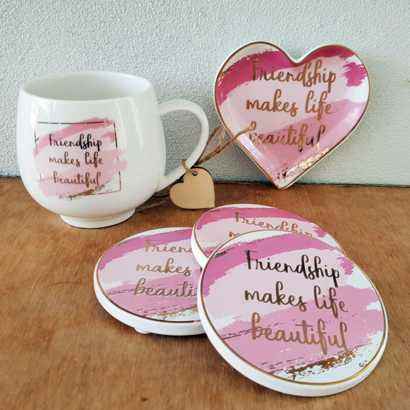 Friendship Makes Life Beautiful Trinket Dish - The Chic Nest