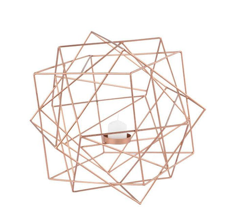 Geo Candle Holder - Copper