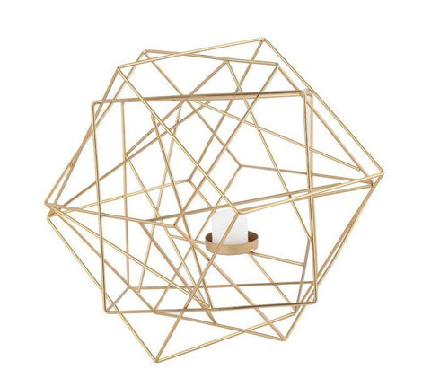 Geo Candle Holder - Gold