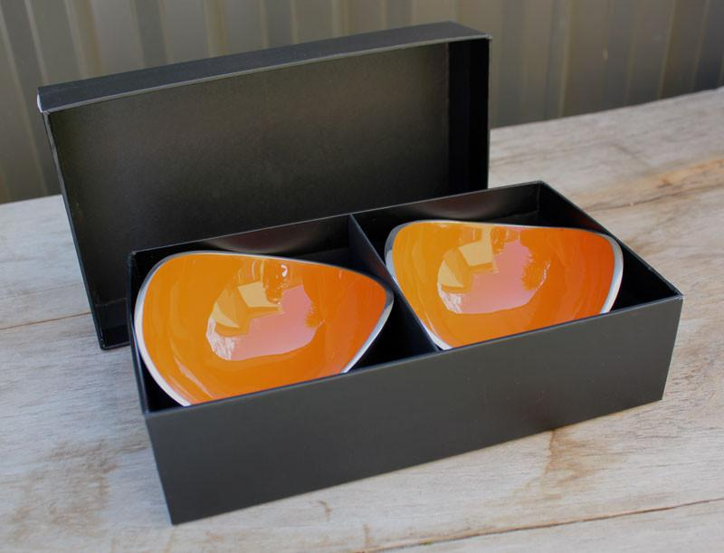 Gift Boxed Set of 2 Bowls - Orange - The Chic Nest