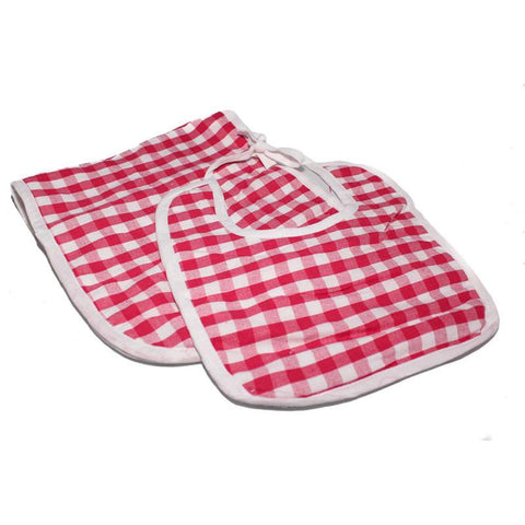 Gingham Pink Bib & Burp Set - The Chic Nest