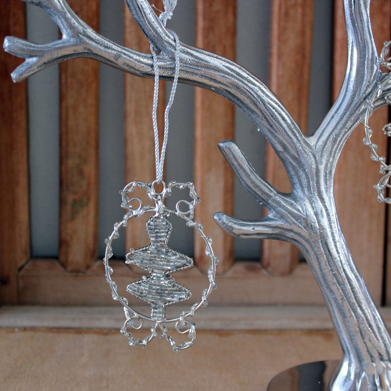 Glass Beaded Tree Ornament - The Chic Nest