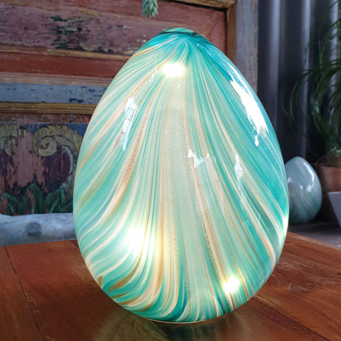 Glow Light Aqua and Gold - The Chic Nest