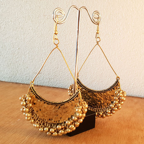Gold Drop Beaded Earrings - The Chic Nest